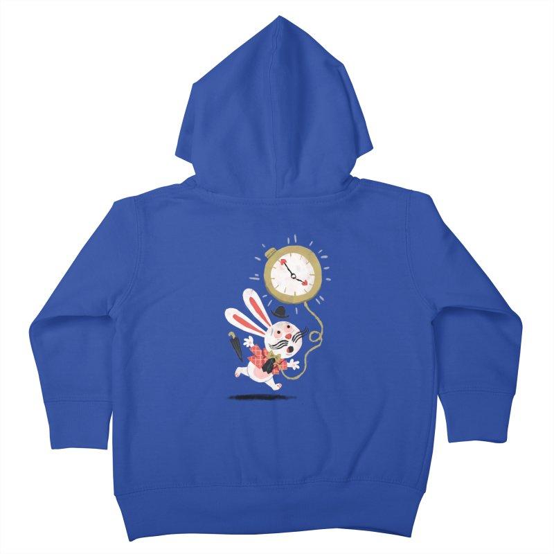 White Rabbit - Alice in Wonderland Kids Toddler Zip-Up Hoody by WanderingBert Shirts and stuff