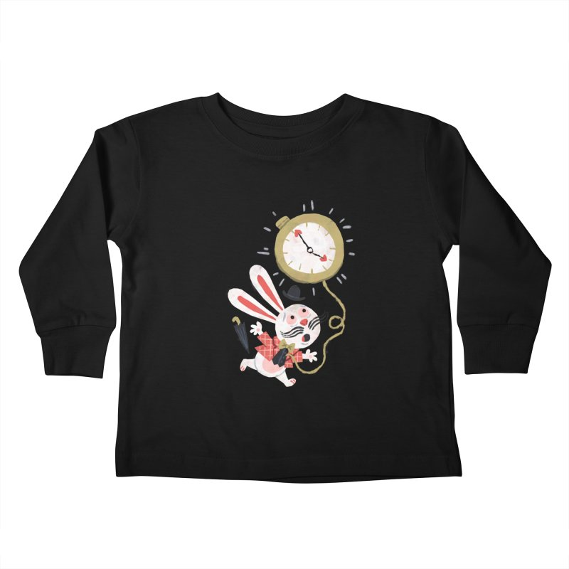 White Rabbit - Alice in Wonderland Kids Toddler Longsleeve T-Shirt by WanderingBert Shirts and stuff