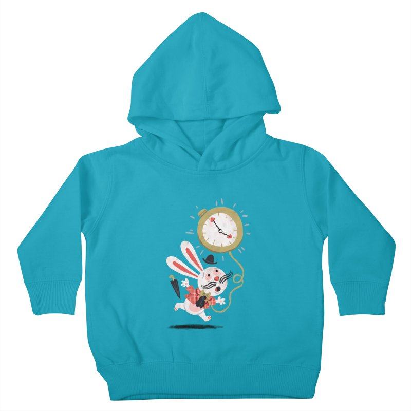 White Rabbit - Alice in Wonderland Kids Toddler Pullover Hoody by WanderingBert Shirts and stuff