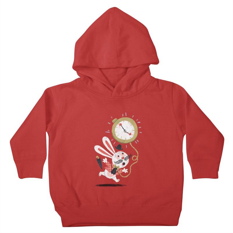 White Rabbit - Alice in Wonderland Kids Toddler Pullover Hoody by WanderingBert Shirts and stuff