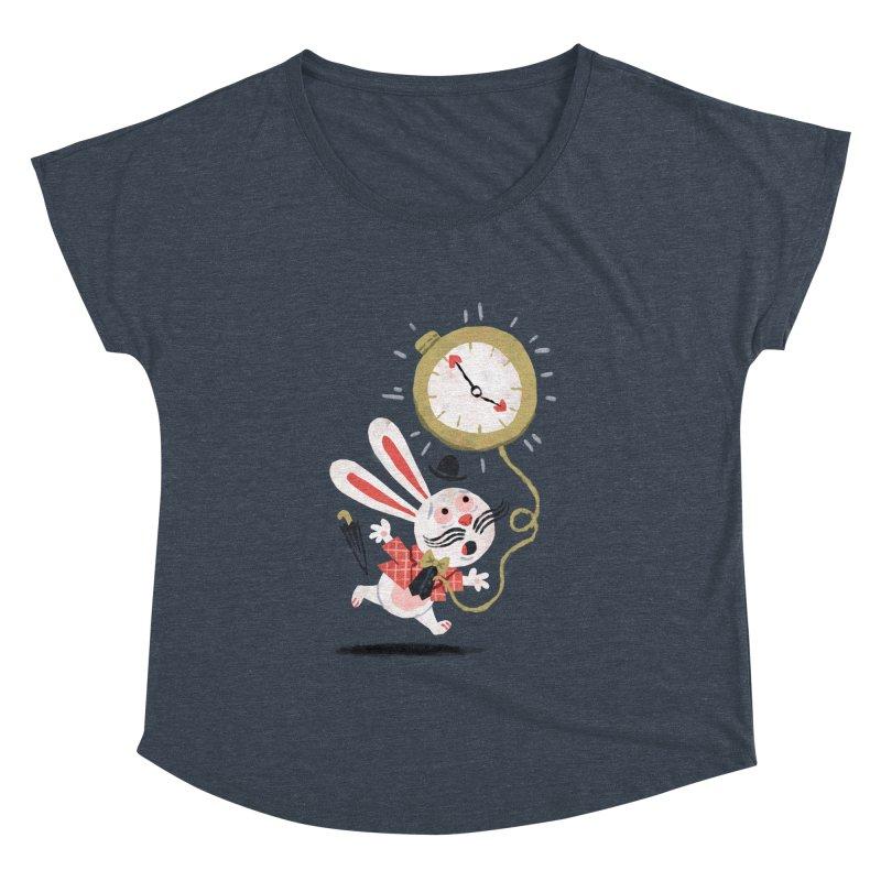 White Rabbit - Alice in Wonderland Women's Dolman by WanderingBert Shirts and stuff