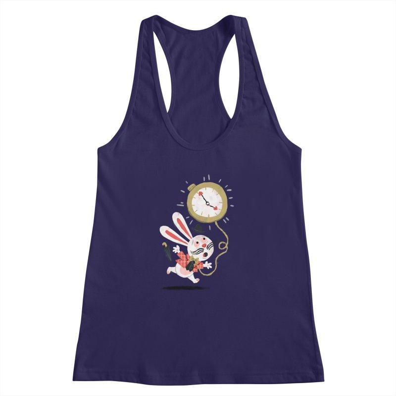 White Rabbit - Alice in Wonderland Women's Racerback Tank by WanderingBert Shirts and stuff