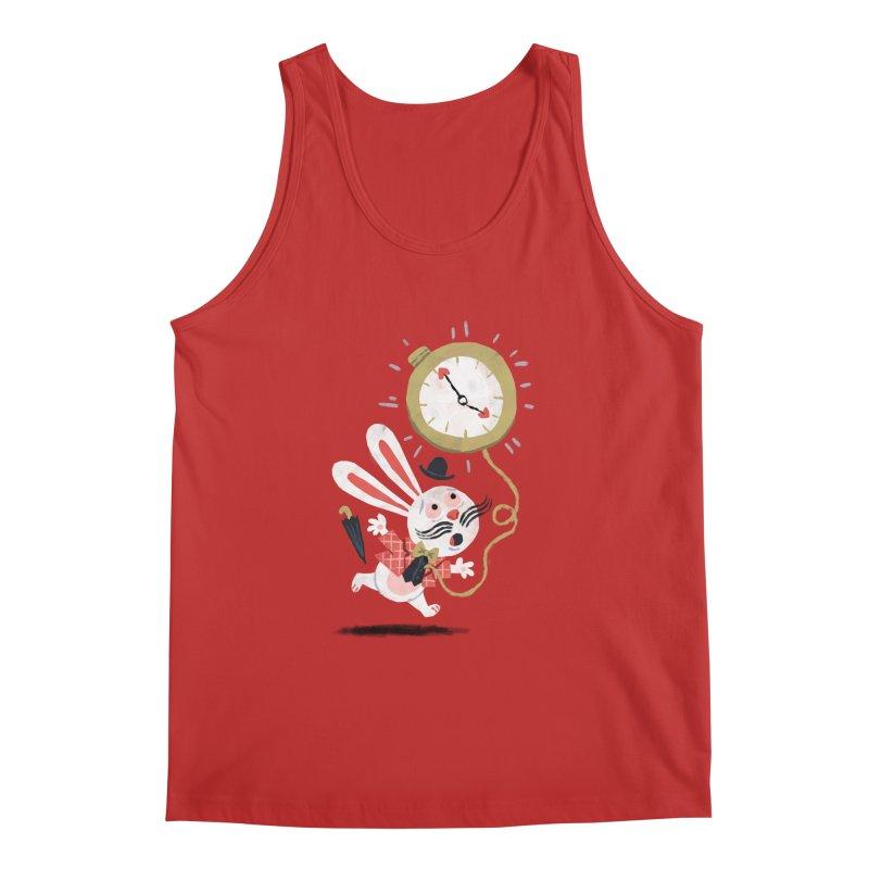 White Rabbit - Alice in Wonderland Men's Tank by WanderingBert Shirts and stuff