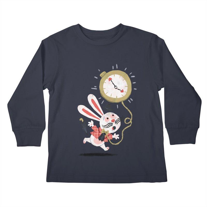 White Rabbit - Alice in Wonderland Kids Longsleeve T-Shirt by WanderingBert Shirts and stuff