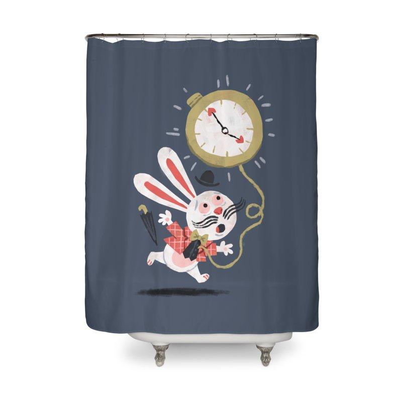 White Rabbit - Alice in Wonderland Home Shower Curtain by WanderingBert Shirts and stuff