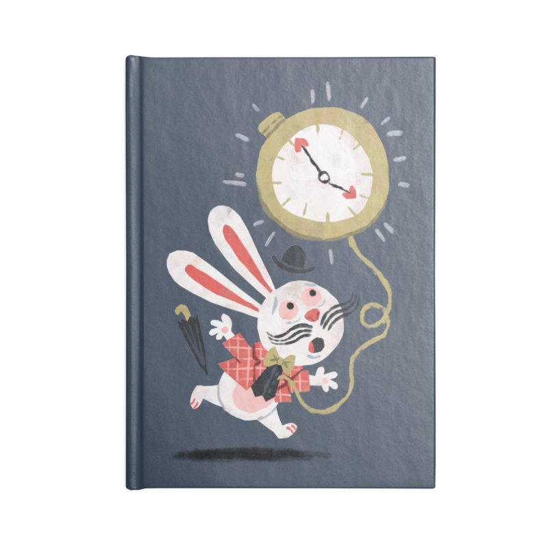 White Rabbit - Alice in Wonderland Accessories Notebook by WanderingBert Shirts and stuff