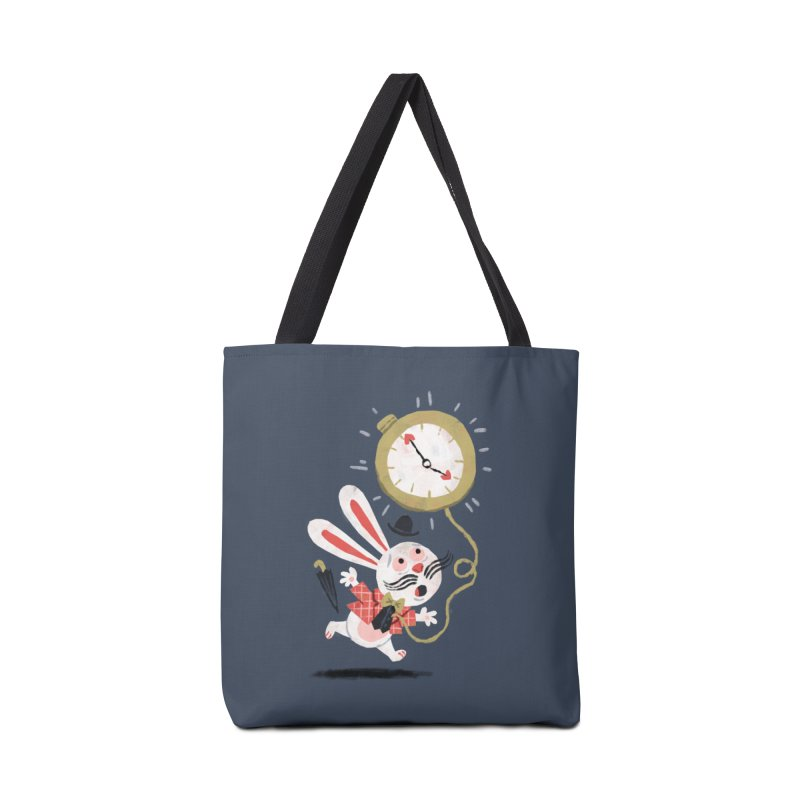 White Rabbit - Alice in Wonderland Accessories Bag by WanderingBert Shirts and stuff