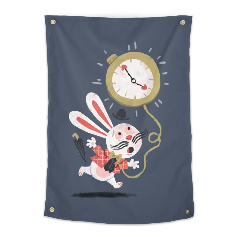 White Rabbit - Alice in Wonderland Home Tapestry by WanderingBert Shirts and stuff