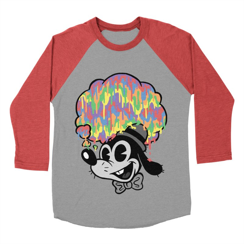 Technicolor Thinking Men's Baseball Triblend T-Shirt by WanderingBert Shirts and stuff