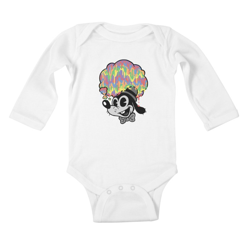 Technicolor Thinking Kids Baby Longsleeve Bodysuit by WanderingBert Shirts and stuff