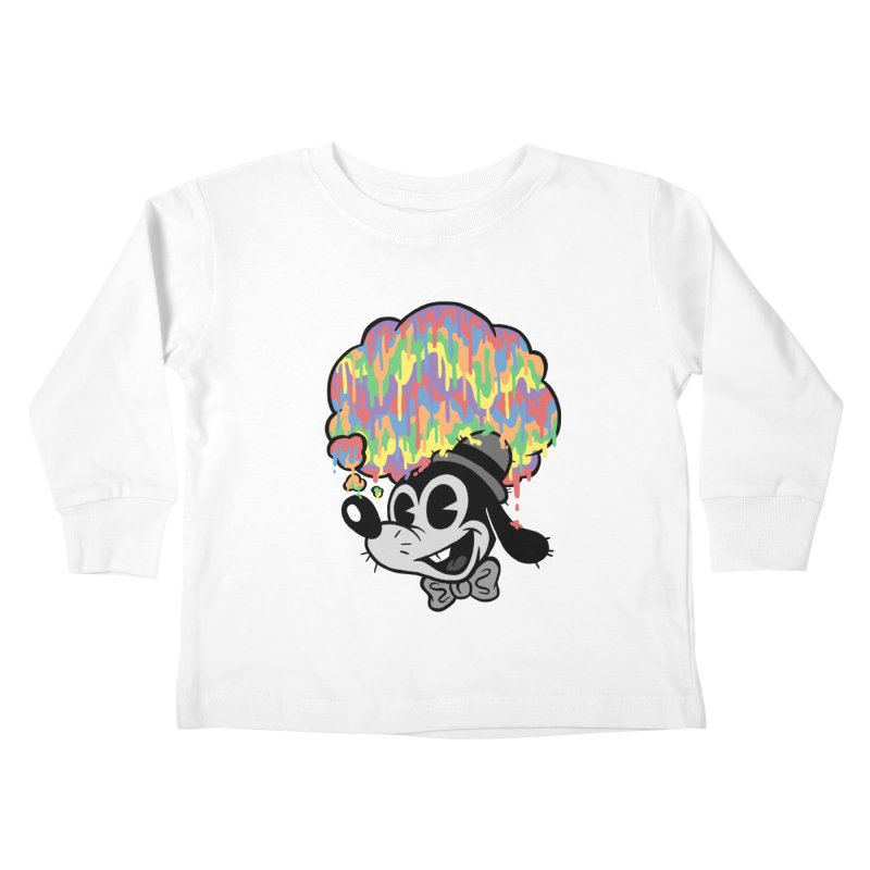 Technicolor Thinking Kids Toddler Longsleeve T-Shirt by WanderingBert Shirts and stuff