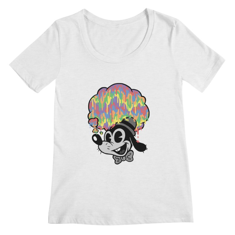 Technicolor Thinking Women's Scoopneck by WanderingBert Shirts and stuff
