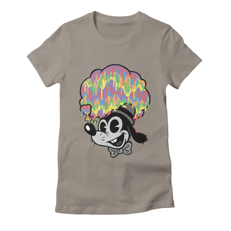 Technicolor Thinking Women's Fitted T-Shirt by WanderingBert Shirts and stuff
