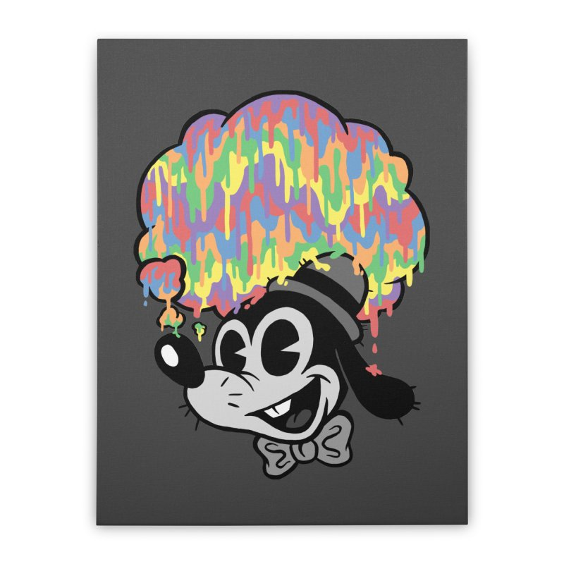 Technicolor Thinking Home Stretched Canvas by WanderingBert Shirts and stuff