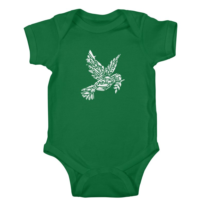 Peace? Kids Baby Bodysuit by WanderingBert Shirts and stuff