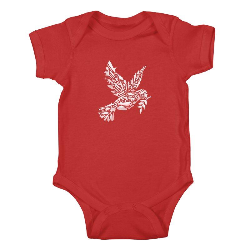 Peace? Kids Baby Bodysuit by WanderingBert Shirts and stuff