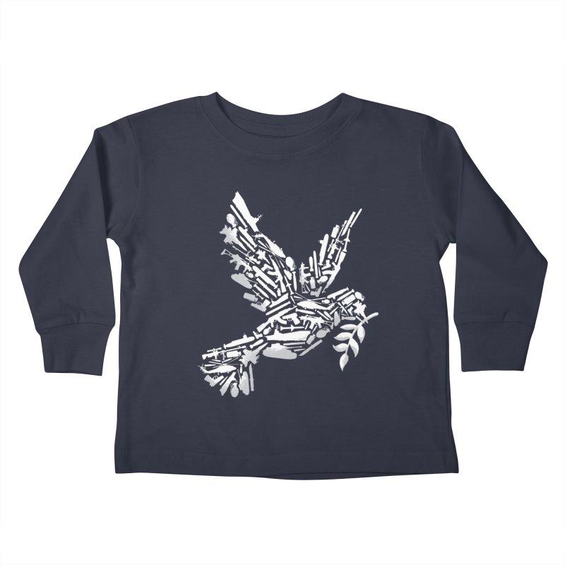 Peace? Kids Toddler Longsleeve T-Shirt by WanderingBert Shirts and stuff