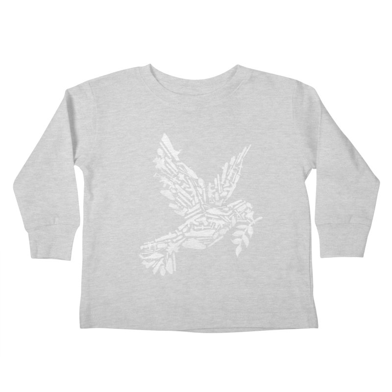 Peace? Kids Toddler Longsleeve T-Shirt by WanderingBert Shirts and stuff