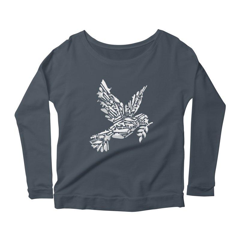 Peace? Women's Longsleeve Scoopneck  by WanderingBert Shirts and stuff