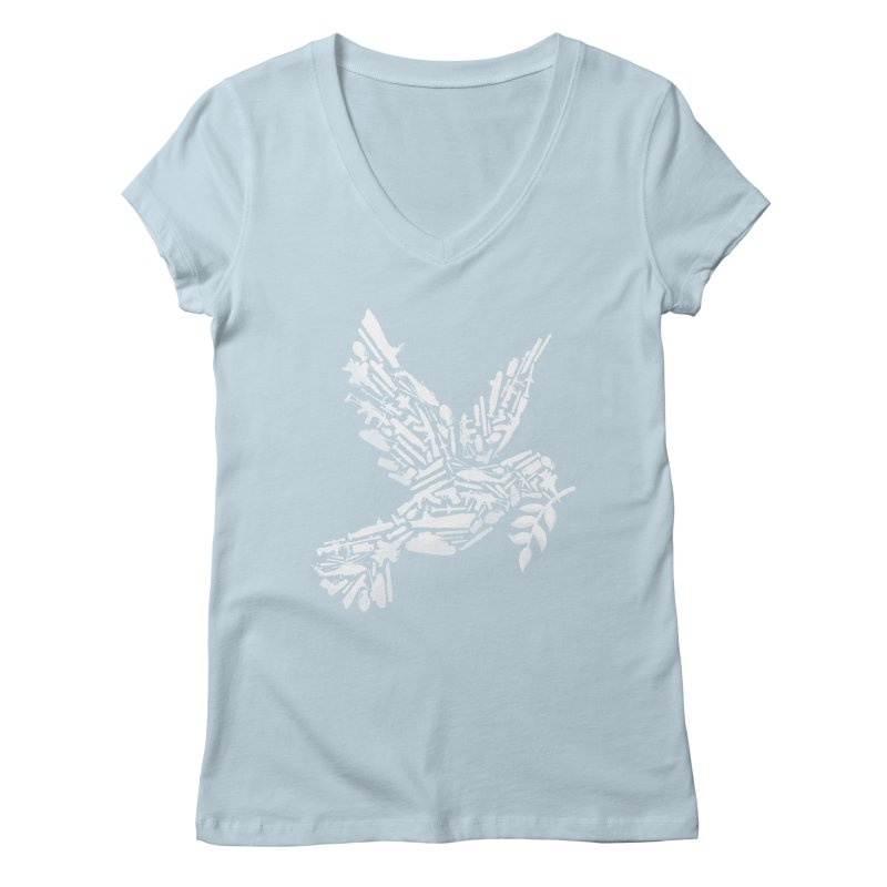 Peace? Women's V-Neck by WanderingBert Shirts and stuff