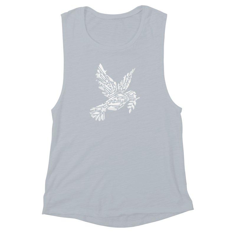 Peace? Women's Muscle Tank by WanderingBert Shirts and stuff