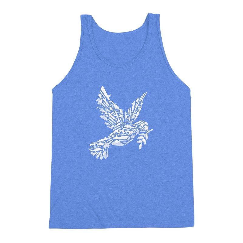 Peace? Men's Triblend Tank by WanderingBert Shirts and stuff