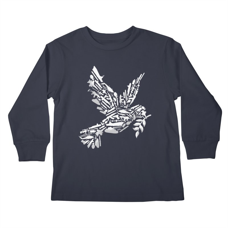 Peace? Kids Longsleeve T-Shirt by WanderingBert Shirts and stuff