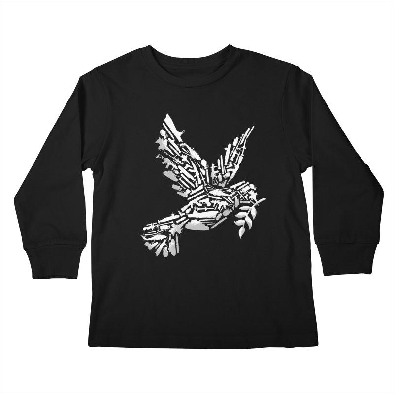 Peace? Kids Longsleeve T-Shirt by WanderingBert Shirts and stuff