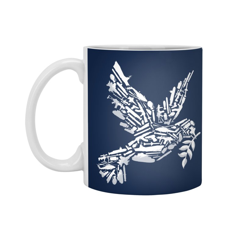 Peace? Accessories Mug by WanderingBert Shirts and stuff