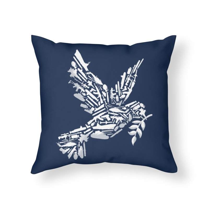 Peace? Home Throw Pillow by WanderingBert Shirts and stuff