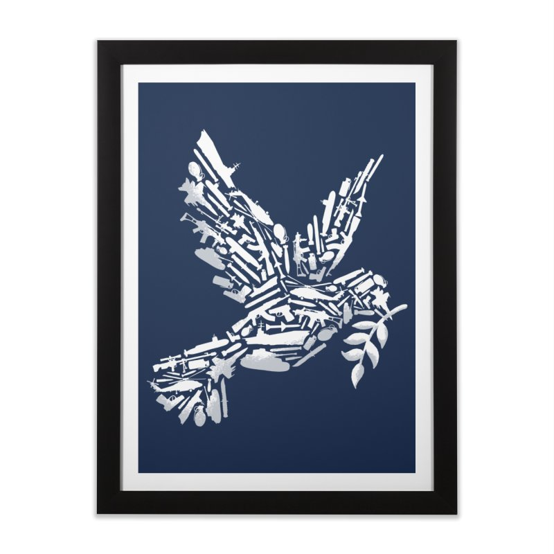 Peace? Home Framed Fine Art Print by WanderingBert Shirts and stuff