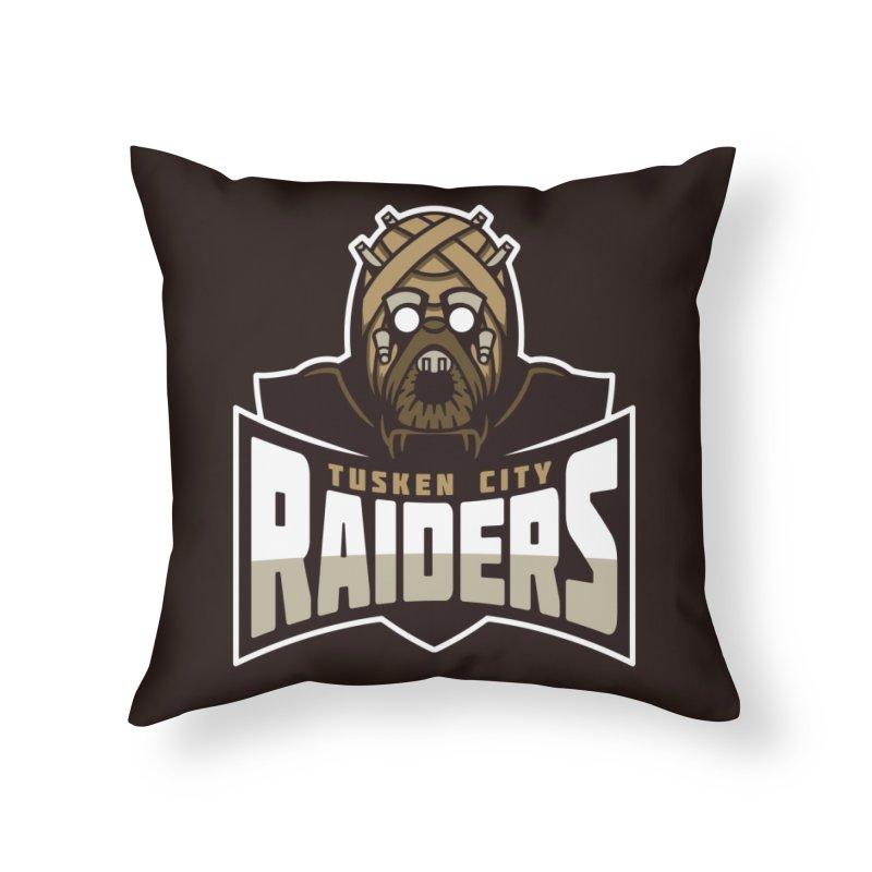 Tusken City Raiders Home Throw Pillow by WanderingBert Shirts and stuff