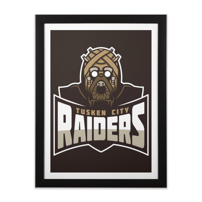 Tusken City Raiders Home Framed Fine Art Print by WanderingBert Shirts and stuff