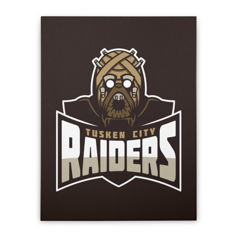 Tusken City Raiders Home Stretched Canvas by WanderingBert Shirts and stuff