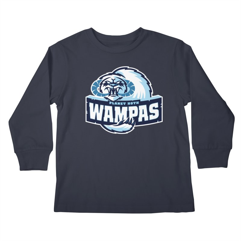 Planet Hoth Wampas Kids Longsleeve T-Shirt by WanderingBert Shirts and stuff