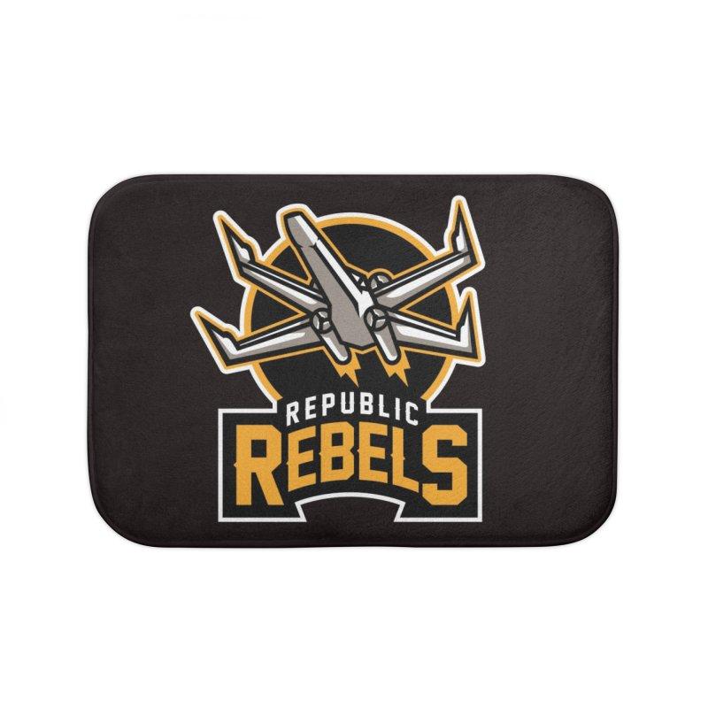 Republic Rebels Home Bath Mat by WanderingBert Shirts and stuff