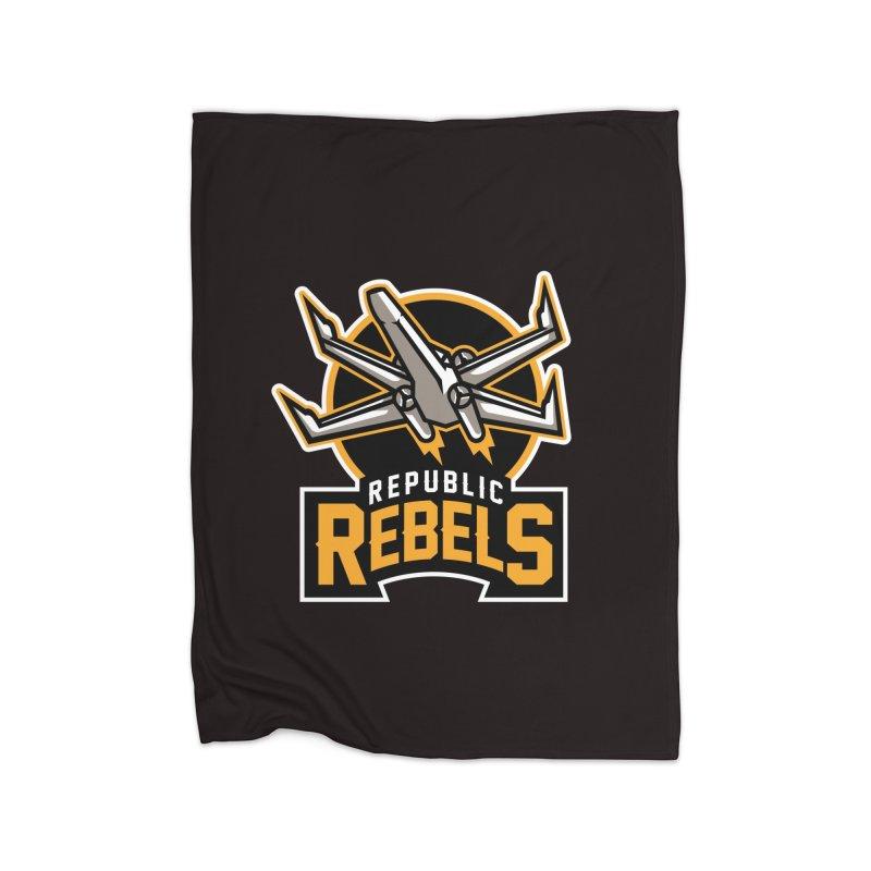 Republic Rebels Home Blanket by WanderingBert Shirts and stuff