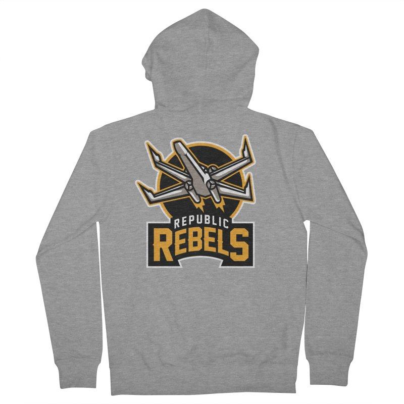 Republic Rebels Men's Zip-Up Hoody by WanderingBert Shirts and stuff