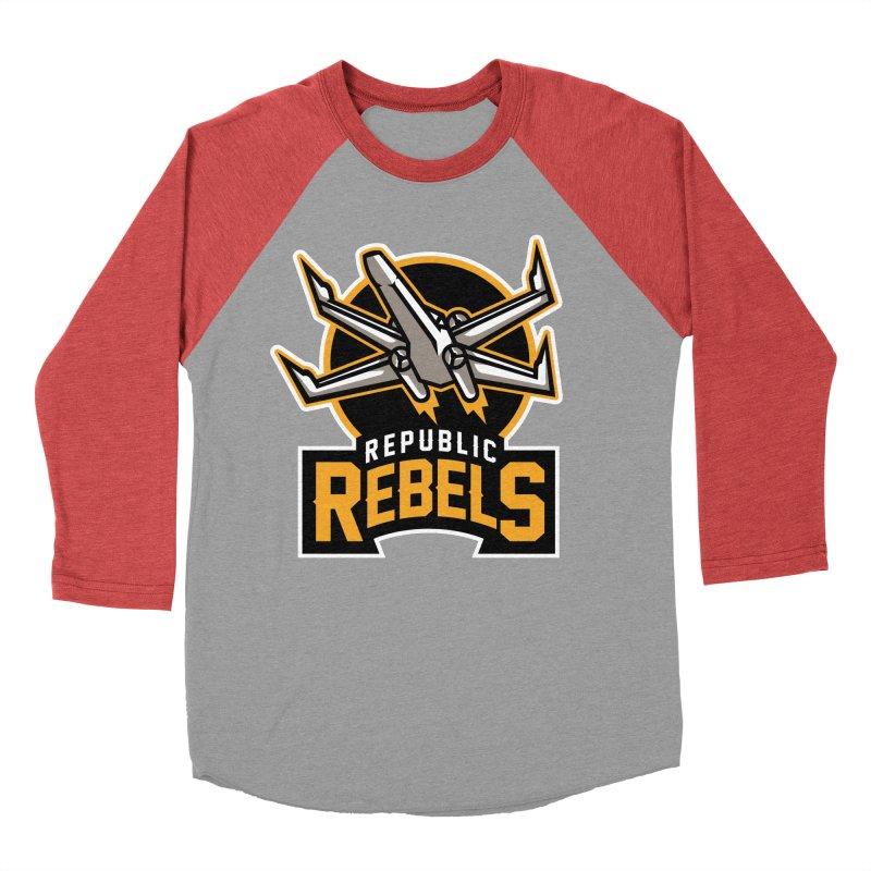 Republic Rebels Men's Baseball Triblend T-Shirt by WanderingBert Shirts and stuff