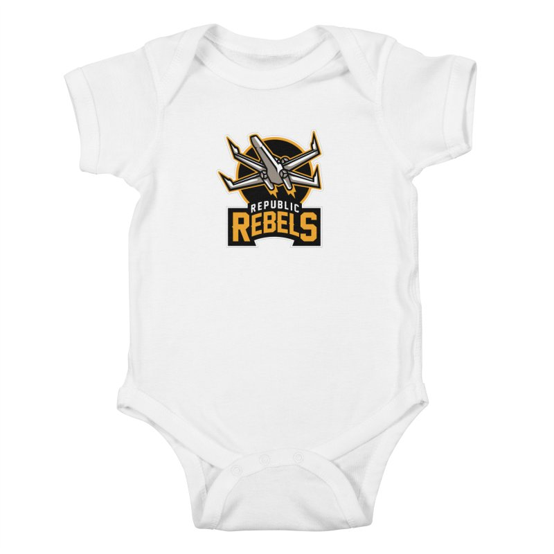 Republic Rebels Kids Baby Bodysuit by WanderingBert Shirts and stuff