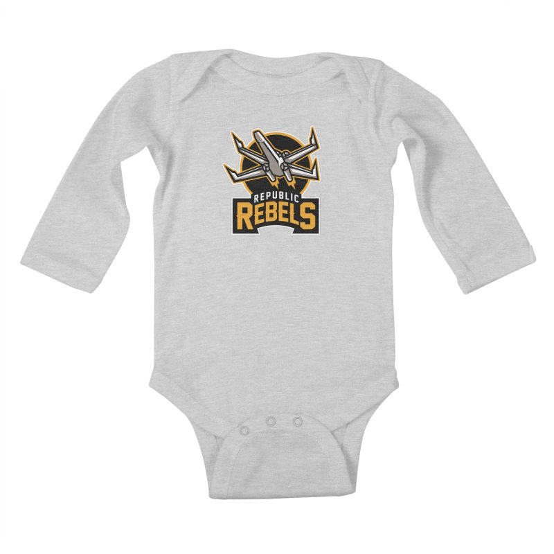 Republic Rebels Kids Baby Longsleeve Bodysuit by WanderingBert Shirts and stuff