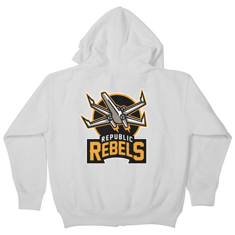 Republic Rebels Kids Zip-Up Hoody by WanderingBert Shirts and stuff