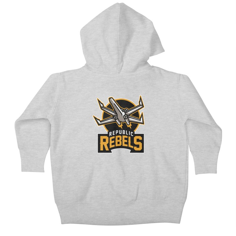 Republic Rebels Kids Baby Zip-Up Hoody by WanderingBert Shirts and stuff