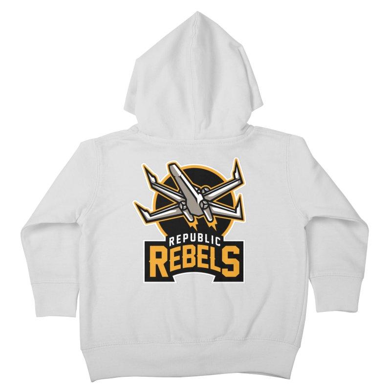 Republic Rebels Kids Toddler Zip-Up Hoody by WanderingBert Shirts and stuff
