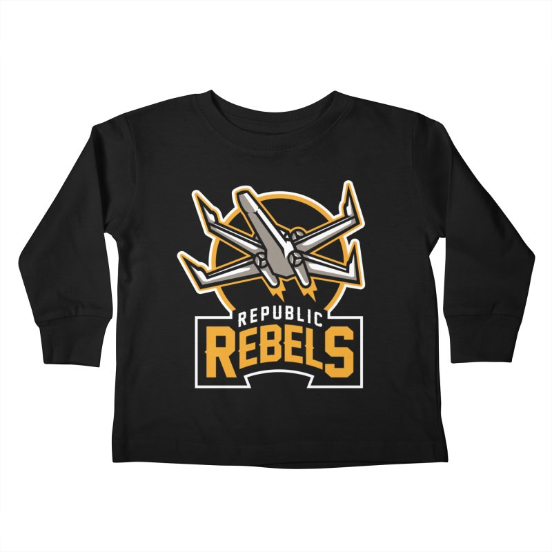 Republic Rebels Kids Toddler Longsleeve T-Shirt by WanderingBert Shirts and stuff