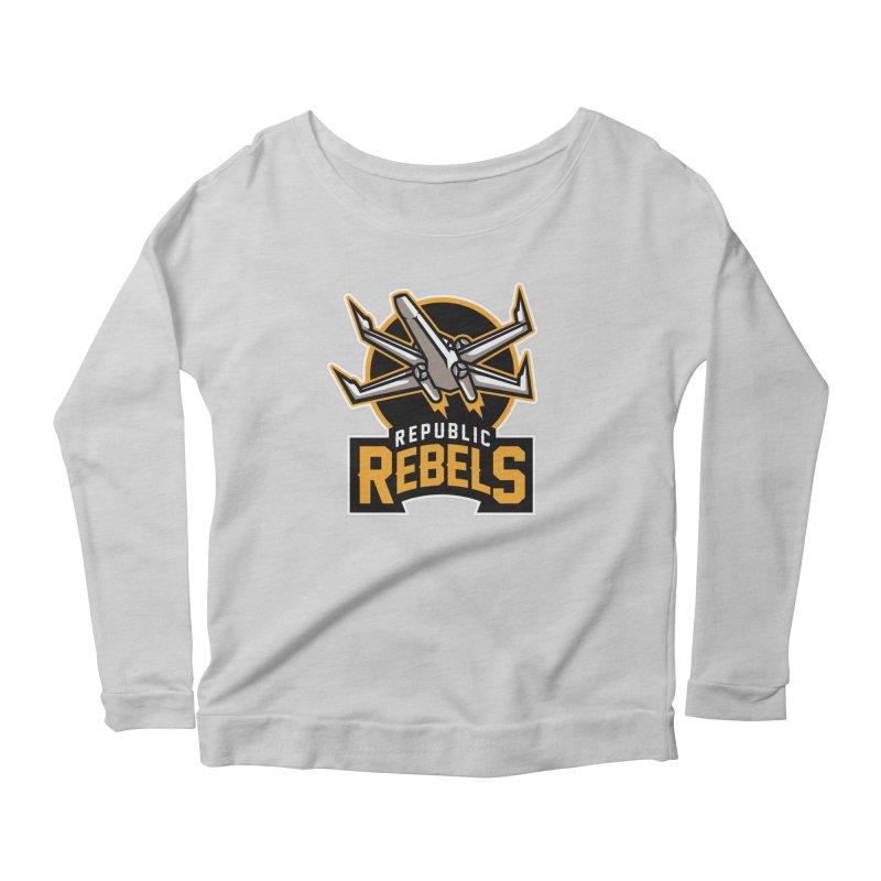 Republic Rebels Women's Longsleeve Scoopneck  by WanderingBert Shirts and stuff