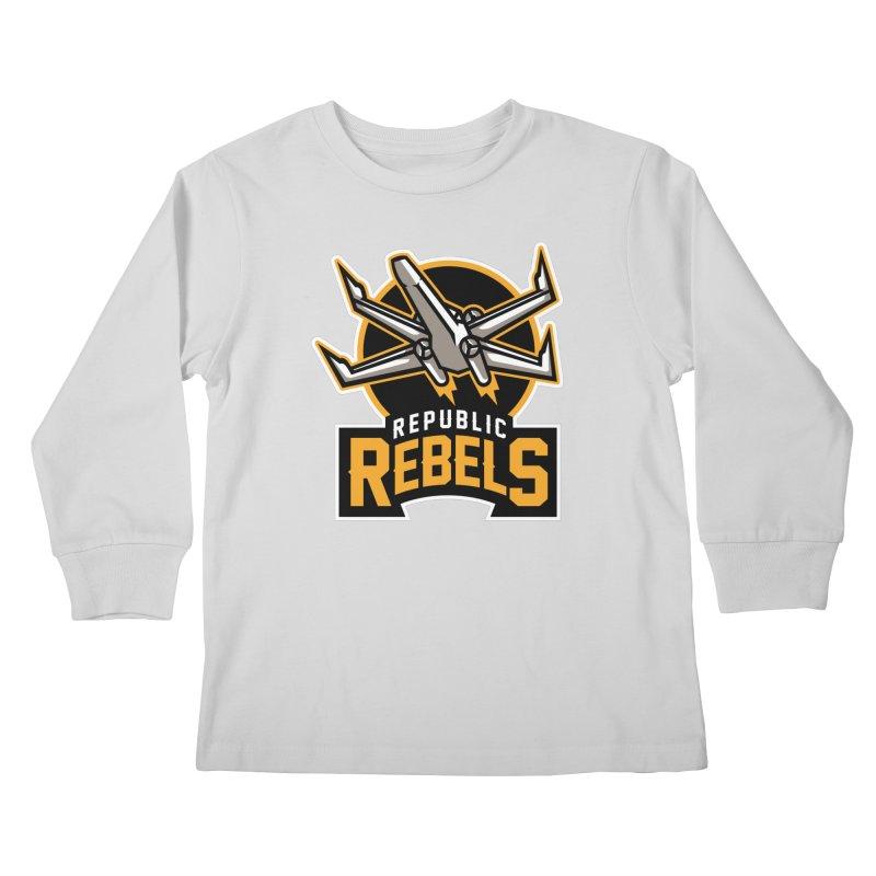 Republic Rebels Kids Longsleeve T-Shirt by WanderingBert Shirts and stuff