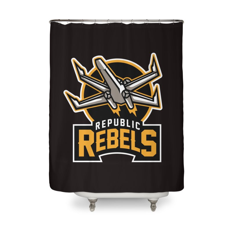 Republic Rebels Home Shower Curtain by WanderingBert Shirts and stuff
