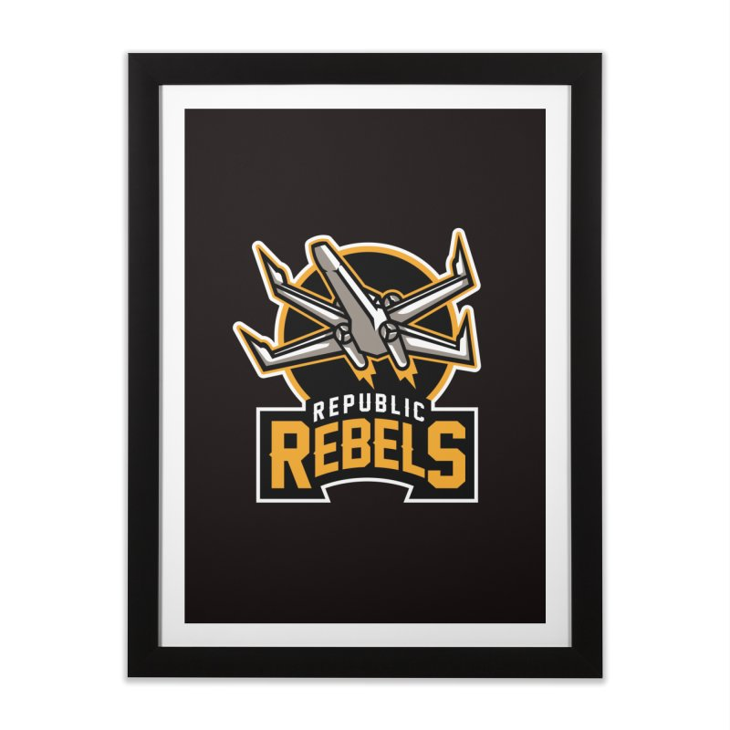 Republic Rebels Home Framed Fine Art Print by WanderingBert Shirts and stuff
