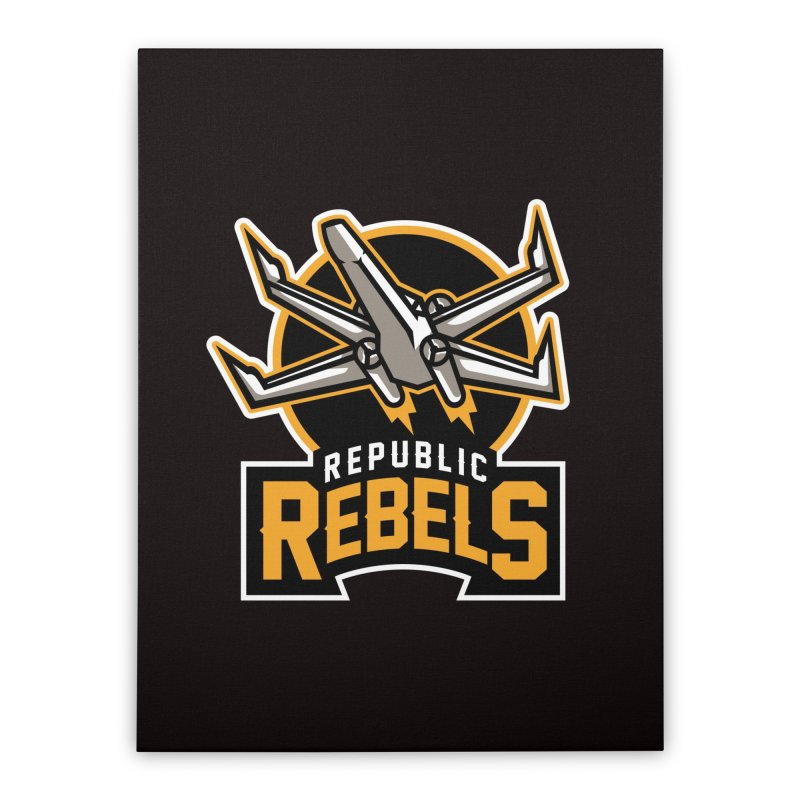 Republic Rebels Home Stretched Canvas by WanderingBert Shirts and stuff
